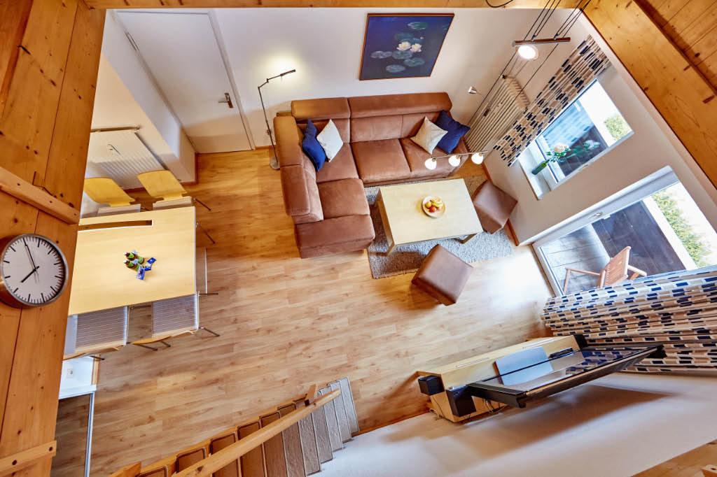 Wohnzimmer, Blick von der Empore
